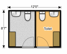 Small Toilet Shower block