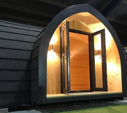 NEW Sunflower Wooden Camping Pod