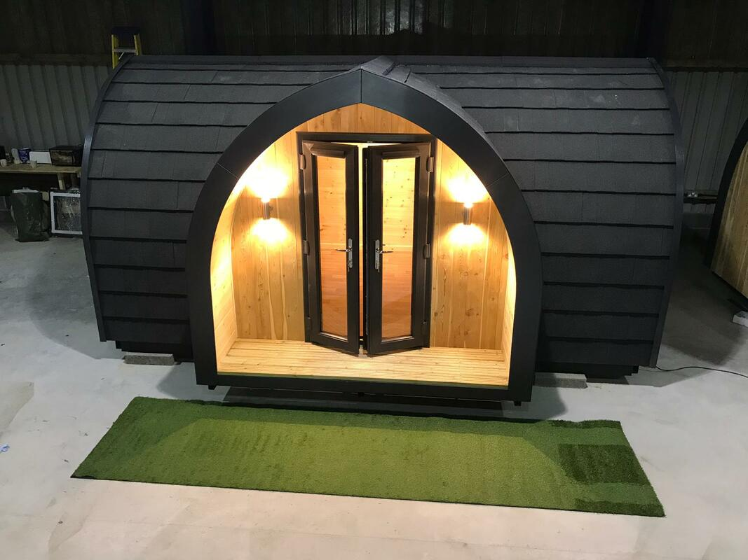 Wooden glamping pod